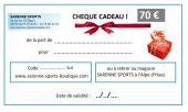 CHEQUE CADEAU 70 €