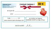 CHEQUE CADEAU 80 €