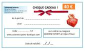 CHEQUE CADEAU 40 €