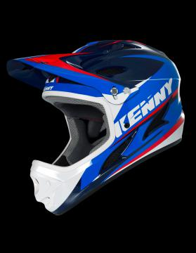 CASQUE INTEGRAL KENNY DOWNHILL BLEU/ROUGE
