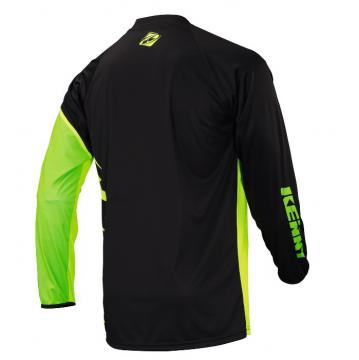 MAILLOT KENNY FACTORY JUNIOR NOIR/LIME