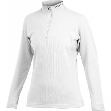 PULLOVER CRAFT SHIFT 1/2 ZIP WOMEN BLANC