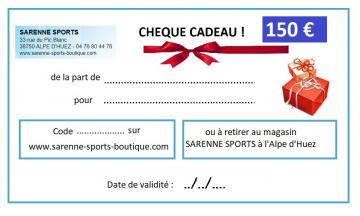 CHEQUE CADEAU 150 €