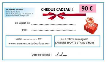 CHEQUE CADEAU 90 €