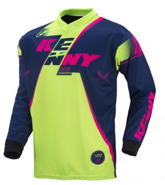 MAILLOT KENNY TRACK LIME/ROSE FLUO